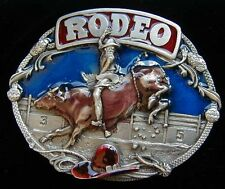 RODEO BELT BUCKLE BUCKLES SOLID PEWTER DETAILED!