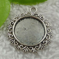 Free Ship 88 pieces tibet silver frame pendant 34x30mm #2423