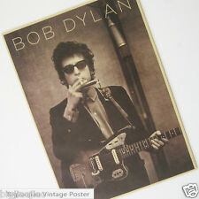 Bob Dylan Rock Music Singer Vintage Kraft Paper Poster Bar Room Decorative