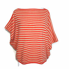 M. PATMOS CLUB MONACO 100% Cashmere Striped  Asymetrical Sweater Size XS / S/ P