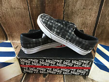 VANS ERA 59 DISTRESSED PLAID BLACK MENS SIZE 9 NEW SKATE SHOES