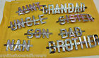 Silver Letters, Strip Fix & wires for Funeral wreath, crafts - MUM,DAD, NAN etc