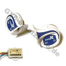UNIVERSAL HORN MULTI SOUNDS 12V 410-510 HZ GY6 SCOOTER MOPED ATV MOTORCYCLE