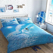 OCEAN SURFER SEA SURF BOARD WAVES BEACH SINGLE bed QUILT DOONA COVER SET NEW