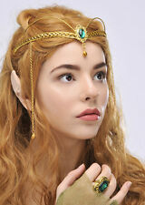 Elf Princess Green Jewel Crown Headpiece