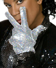 MICHAEL JACKSON POP STAR SEQUIN GLOVE - FANCY DRESS COSTUME ACCESSORY U36 128