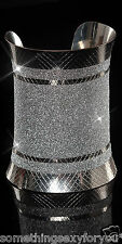 STUNNING PARTY GLITTER BANGLE IN SILVER OR GOLD COLOUR.