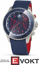 BMW Motorsport Ice Watch 80262285903 Blue Red Leather Date Display Genuine New