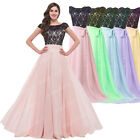 Vintage LACE Chiffon Long Evening Party Prom Bridesmaid COCKTAIL FORMAL Dresses