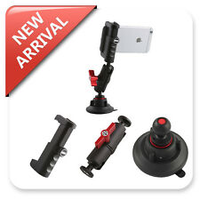 Camera mini Suction Cup Mount Holder Ball Connector w/Smartphone Rig Clamp