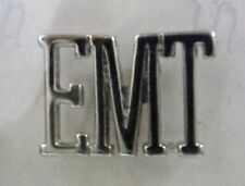 "EMT Cut Out Letter Pin Nickel Plated Medical Collar Cap Lapel Tac 1/2"" New"