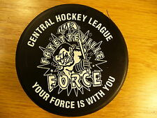 CHL Fayetteville Force CP&L Reverse Team Logo Hockey Puck Check My Other Pucks
