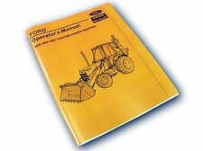 FORD 555C 655C TRACTOR LOADER BACKHOE OPERATORS OWNERS MANUAL MAINTENANCE LUBE