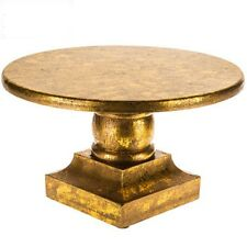 "10 5/16"" Gold Wood Cake Stand, shabby chic decor,"