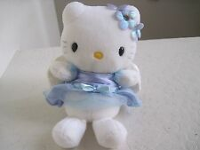 "Sanrio HELLO KITTY Blue Dress Angel Wings 8"" Plush Stuffed Animal"