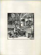 Cg St Jerome In A Monastery Cell With Lion 1520 Old Woodcut