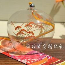Japanese Traditional Culuture Glass Wind Chimes Bell Furin Summer Orange Flower