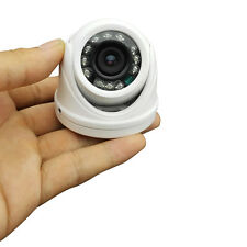 HJT Mini Dome Camera 650TVL Sony CCD CCTV Indoor Security 12IR Night Vision BNC