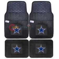 Dallas Cowboys Front Floor Mat Rare Utility Mat 4pc Rubber NFL Fanmats Auto