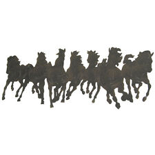 Running Horses Silhouette METAL Wall Decoration,Rustic Country Chic ART Decor
