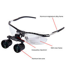 GER Dental Medical Binocular Loupes aluminum variable Loupes 2.5X-3.5X headlight