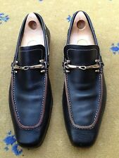 Gucci Men's Shoes Brown Leather Horsebit Loafers UK 10 US 11 EU 44 Ornate