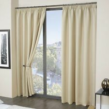 Luxury Thermal Blackout Curtains - Black Cream Pink Blue - Supersoft Material