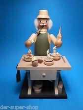 Original Erzgebirge Räuchermann mit Spieldose Christi Geburt Spielwerk Bewegung