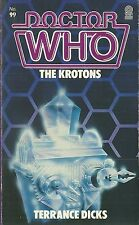 OOP Paperback Book - DOCTOR WHO - The Krotons - Terrance Dicks - #99