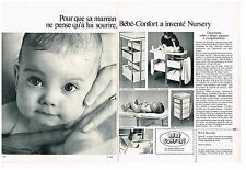Publicité Advertising 1970 (2 pages) Puériculture Table à langer Bébé-Confort