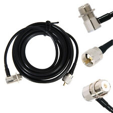 16ft RG58 PL259 UHF to SO239 Connectors for Car Radio Mobile Antenna Mount Cable