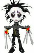 20 water slide nail art transfers Halloween Edward scissor hand