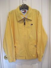 Vtg 1990s Mens XL Yellow TOMMY HILFIGER Classic SAILING WINDBREAKER JACKET Golf