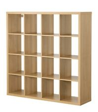 ,23¥   IKEA KALLAX STORAGE DISPLAY UNIT SHELVING BOOKCASE 147x147cm Beige