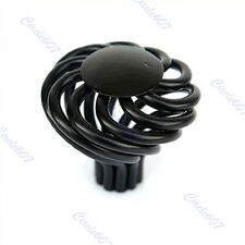 Black Round Spiral Bird Cage Cabinet Cupboard Door Drawer Pull Handle Knob
