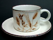 Midwinter Wild Oats Pattern Stonehenge Range Tea or Coffee Cups & Saucers in VGC