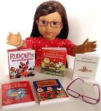 "Holiday Mini Books & Eyeglasses for American Girl Doll 18"" Accessories SET"
