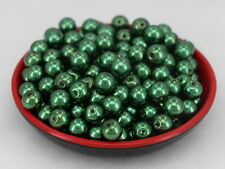 New Glass Pearl Round Spacer Loose Beads 10mm/30pcs Dark green