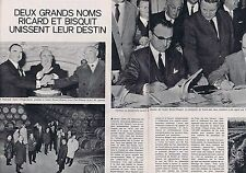 COUPURE DE PRESSE CLIPPING 1967 UNION RICARD-BISQUIT  (2 pages)