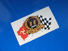 TT RACES ISLE OF MAN sticker/decal x1