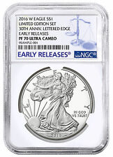 2016-W Silver Eagle Limited Edition Silver Proof Set NGC PF70 UC ER SKU44531