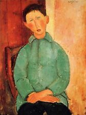 AMEDEO MODIGLIANI BOY IN A BLUE JACKET OLD MASTER ART PAINTING PRINT 139OMA