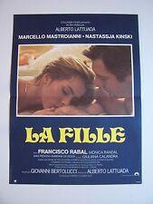 """Affiche Cinéma  """" LA FILLE """" / Alberto Lattuada - 1978 ( 116 x 158 cm ) N.Kinski"""