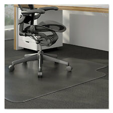 Universal Cleated Chair Mat for Low and Medium Pile Carpet 36 x 48 Clear 56806