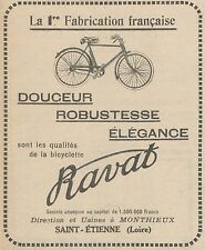 Z9827 Bicyclette RAVAT -  Pubblicità d'epoca - 1923 Old advertising