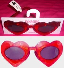 NEW GYMBOREE Sun Glasses Girl 4 years and up RED Transparent HEART NWT