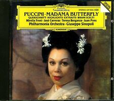 PUCCINI.MADAME BUTTERFLY HIGHLIGHTS.SINOLPI.FRENI.CARRERAS.PONS.DGG CD.FREE UK P