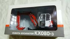 New Miniature Kubota 1/20 mini backhoe KX080-3 excavator Shovel car minicar F/S