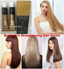 Berina Pro Straight Hair Re-bonding Cream Speed Straightening Reduce Frizzy Curl