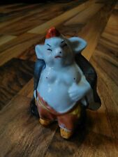 old vintage pig figurine heavy oriental Japanese Chinese sumo home decorative